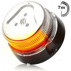 Maják LED oranžový 7m; do autozásuvky 852.8