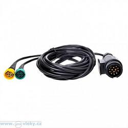 Kabeláž 12V 13-pól. délka 5m; 2x vývod pro př. osvětlení