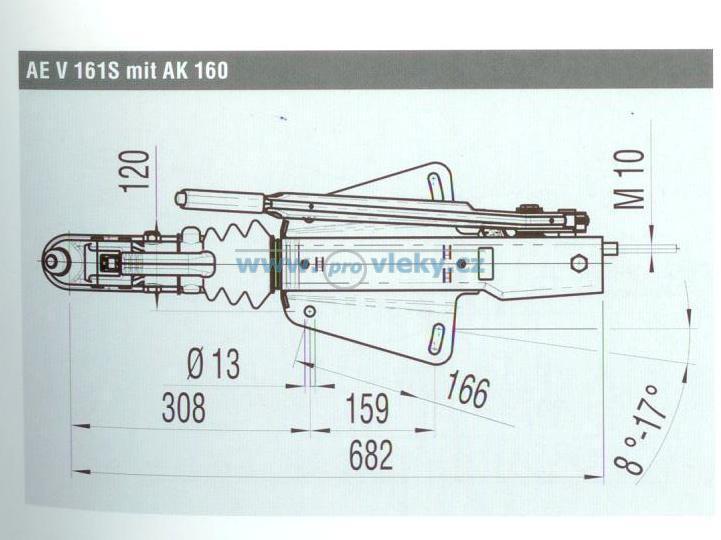 Nájezdová brzda AL-KO 161S-SM - Náhradní díly - Nájezdové brzdy komplet