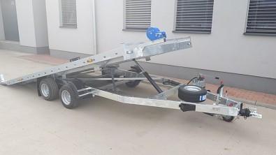 Přívěs UNK AD2100x4100 plato sklopné rampa 2700kg - sklopený