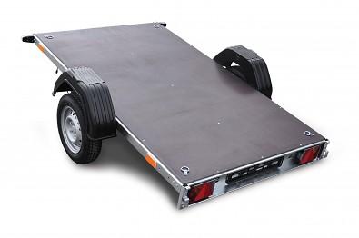 Přívěs Zaslaw 205SU 205x122x35 750kg sklopný sklopená korba v provedení plato