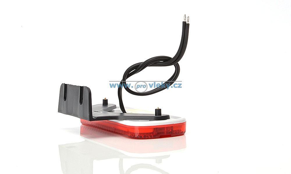 Svítilna poziční W128 červená LED vč. odrazky - Náhradní díly - Poziční světla
