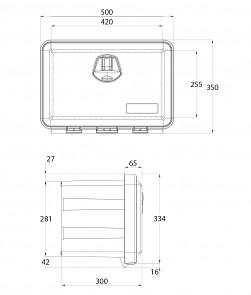 Rozměry plastové skříňky DAKEN JUST 500R