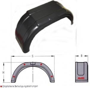 Blatník plastový š=220 (vhodný pro pneu 195/50 R13)
