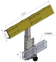 nákres opěry lodní výškově stavitelné