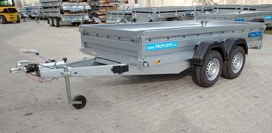 Brzděný dvounápravový přívěsný vozík Zaslaw