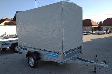 Plachta s konstrukcí na přívěsný vozík Zaslaw