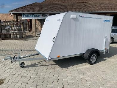 Aerodynamický skříňový přívěsný vozík