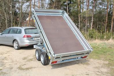 Přívěs Kipper 250/2 750kg , nebrzděný sklápěcí přívěs