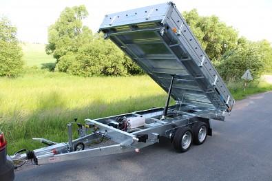 Hydraulicky sklopný přívěsný vozík Martz od Tanatechu