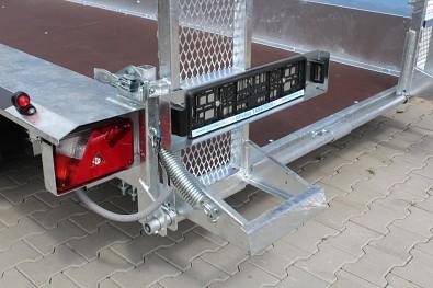 Přívěs MARTZ BAU 400/3 3500kg na přepravu bagrů - opěra nájezdů