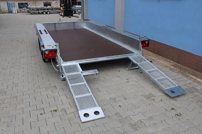 Přívěs MARTZ BAU 400/3 3500kg na přepravu bagrů - nájezdy