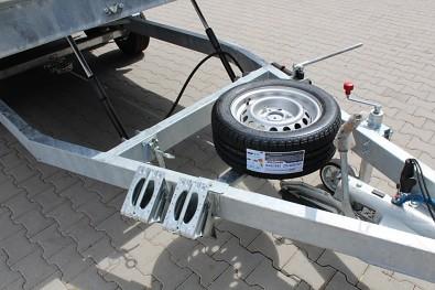 Přívěs UNK AD2100x4100mm 2700kg nájezdy , ALU bočnice, hydraulika -  hydraulika masivní dvojitá