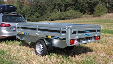 Přívěs MARTZ Hochlader 250 254x153cm 750kg boční pohled