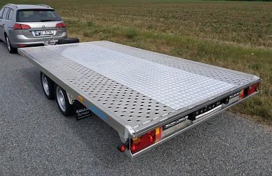 Přívěs FLAT ALU 406x200 cm 2,7t hliníkový - zadní část přívěsu