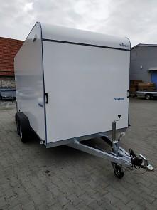 Přívěs skříňový Tomplan TFS 420T.00 2700kg 4200x2000mm přední část