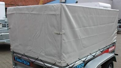 Plachta s konstrukcí Lider 80cm P233 - zapínání zadního čela na řemínky