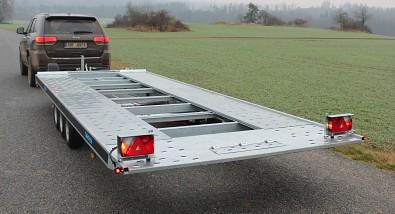 Přívěs martz GT 580 Kippar 3500kg sklopný - sklopení podložky SPZ