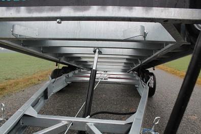 Přívěs martz GT 580 Kippar 3500kg sklopný - hydraulický píst a svařovaný masivní rám