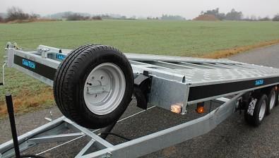 Přívěs martz GT 580 Kippar 3500kg sklopný - uložení rezervního kola