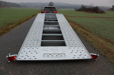Přívěs martz GT 580 Kippar 3500kg sklopný - sklopená ložná plocha pro najetí nákladu