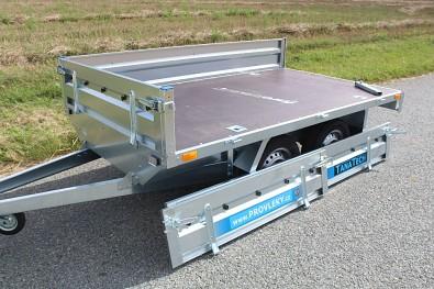 řívěs Faro Magicus 263x150x35 750kg snadné a rychlé vytvoření plata a odvoz většího nákladu
