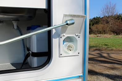 Karavanová zásuvka - připojení karavanu na elektřinu
