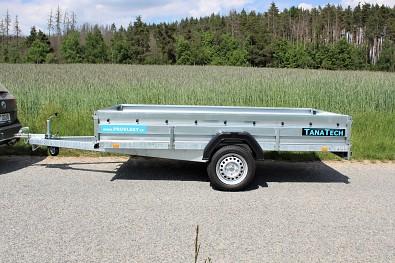 Vlek za auto Zaslaw 300 SUD od Tanatech s nápravou 1000 Kg