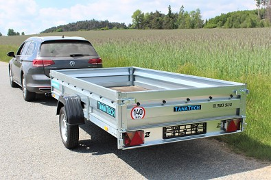 Velký vlek za auto 300 x 150 Zaslaw 300SUD, zesílená náprava 1000 kg.
