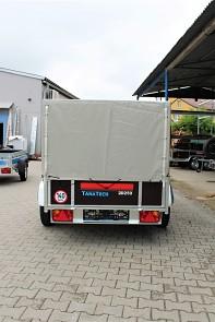 Vlek za auto LIDER 2D250 nebrzděný dvounápravový a plachta s konstrukcí 80cm od Tanatech