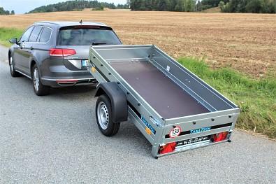 Sklopný vlek za auto Martz Basic 200 Kipp s ložnou plochou 201x107cm