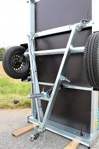Sklopná oj přívěsu MARTZ Basic 200 Kipp usnadní skladování přívěsu.