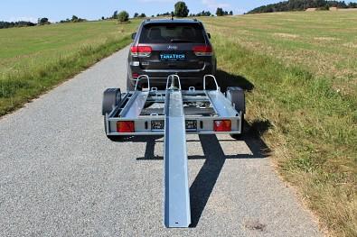 Přívěs pro přepravu motocyklů Přívěs Martz GP 3 NEW 750kg pro 3 motocykly