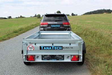 Přívěsný vozík Zaslaw 265TH s celkovou nosností 2000kg a rozměry ložné plochy 265x132x35cm