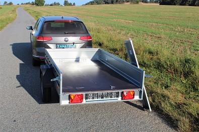 Přívěsný vozík MARTZ Basic 230 s oddělávacím zadním čelem, ložná plocha 230x125cm