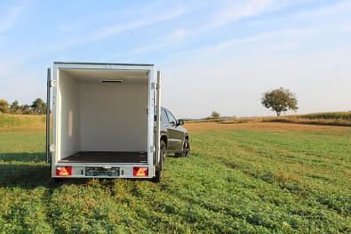 Přívěs skříňový Tomplan TFS 320S.00 320x150x150 750kg okna+dveře od Tanatech