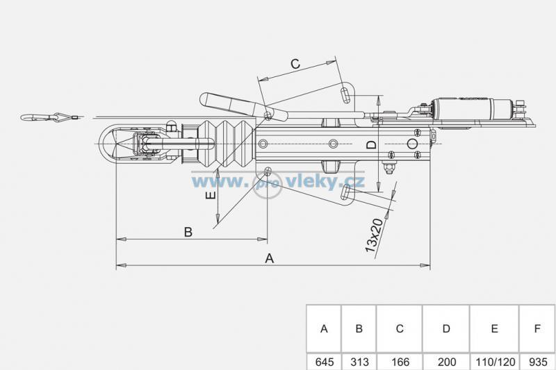 Nájezdová brzda Knott KF13-C - Náhradní díly - Nájezdové brzdy komplet