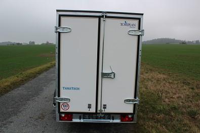 Překližkový skříňový přívěs TFD 300 s dvoukřídlými dveřmi