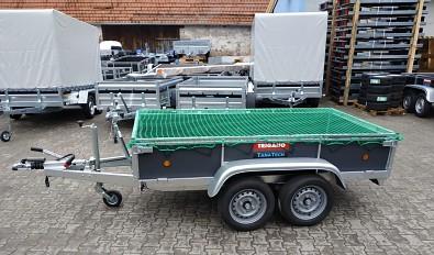 Brzděný přívěsný vozík LIDER vč. sítě a zdvihacího heveru