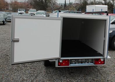 Skříňový přívěs Mini Cargo TF 4 S 2,5m 750kg zadní jednokřídlé dveře