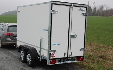 Překližkový skřínový přívěsný vozík brzděný Tomplan TFD 300 2000kg