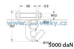 Hák otočný pro pás 50mm - Náhradní díly - Upínací technika + upevňovací pásy