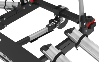 Nosič kol na kouli Hakr TRIP 2 Midle sklápěcí mechanismus a pohodlný uzávěr na kouli
