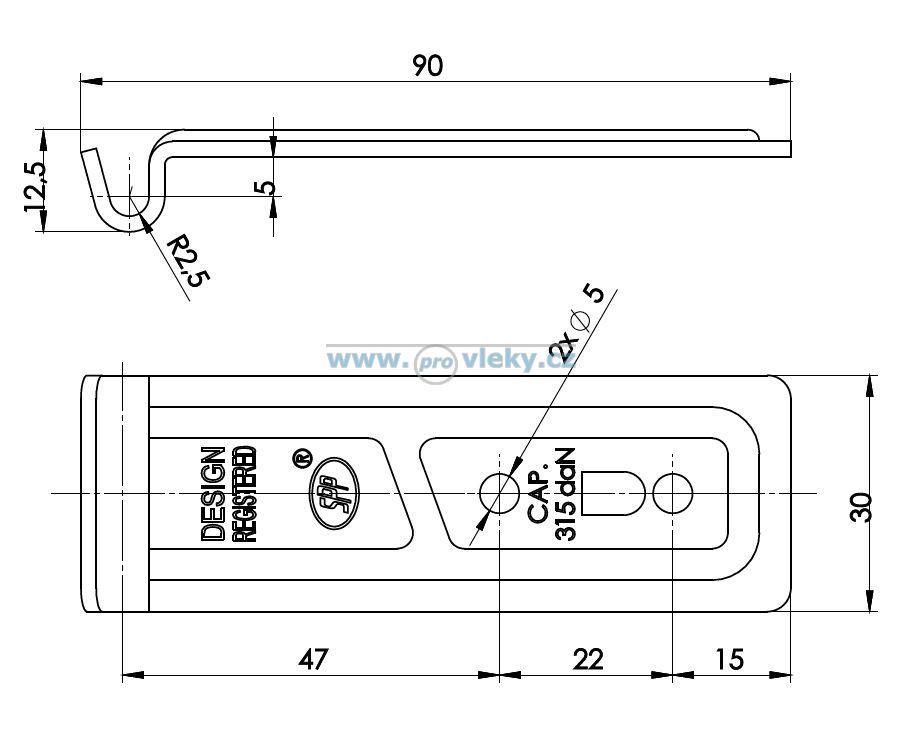 Protikus uzávěru Z-06 - Náhradní díly - Uzávěry bočnic