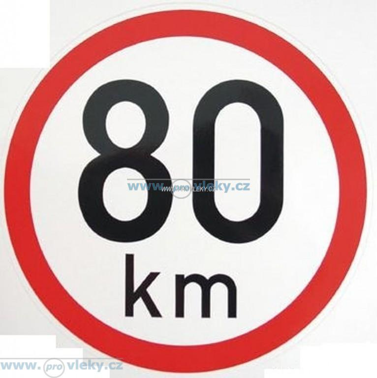 Samolepka rychlost 80 km/hod 19cm - Náhradní díly - Samolepky - omezení rychlosti