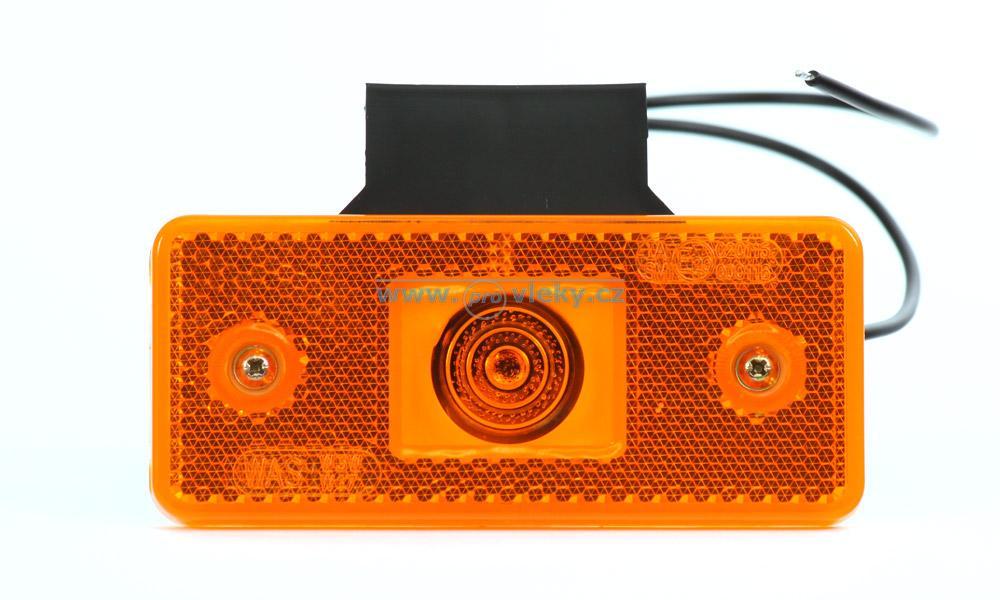 Poziční svítilna oranžová s držákem 89Z - Náhradní díly - Poziční světla
