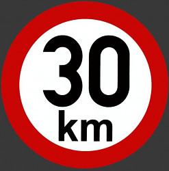 Samolepka rychlosti 30 km/hod