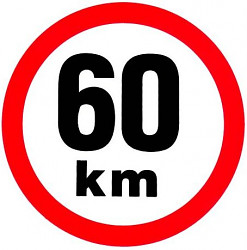Samolepka rychlosti 60 km/hod