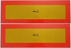 Cedule reflexní pro návěsy a přívěsy hliníková /pár