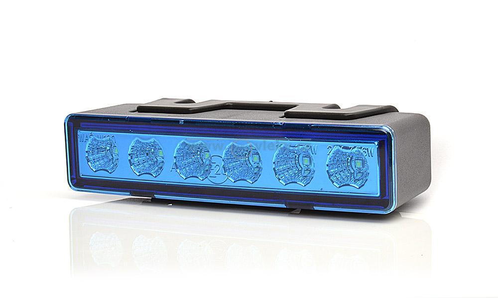 Výstražné světlo 899.1 LED pro vestavbu modré